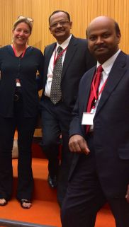From Left to Right: Annabel Lavielle - GHN, Dr Ravi Agarwal, Madras Medical Mission and Dr Prem Sekar - Kauvery Hospital