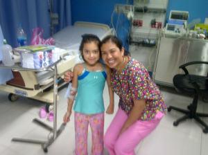 Maria Jose with patient Martha Alicia Vargas