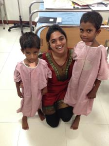 Me with a couple of Dr Sreemathi's patients