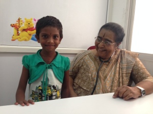 Dr. Sreemati with Ranjini 3 weeks after her surgery